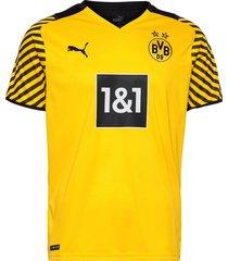 bvb home shirt replica w/ sponsor t-shirts football shirts gul puma