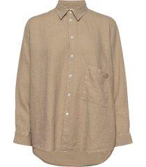 elma shirt långärmad skjorta beige hope