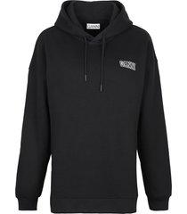 ganni software cotton hoodie