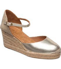 caceres_21_lmt sandalette med klack espadrilles silver unisa