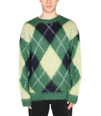 kenzo argyle mohair sweater