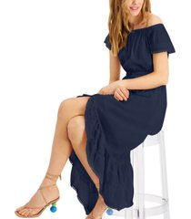inc international concepts high-low midi peasant dress, created for macy's