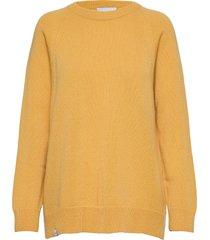 aamu knit gebreide trui geel makia