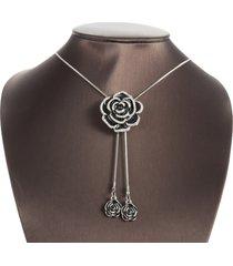 elegante fiore nappe fascino collane ciondolo moda casual abito argento collane regalo per le donne