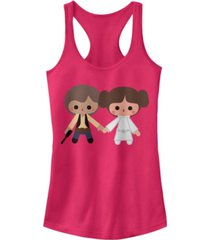 fifth sun star wars han solo princess leia cute cartoon style ideal racer back tank