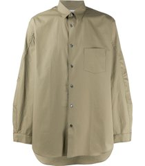 comme des garçons shirt patch-pocket stitched shirt - green