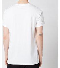 balmain men's silver foil t-shirt - white - xxl