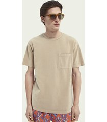 scotch & soda relaxed fit t-shirt van biologisch katoen