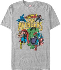 marvel men's comic collection retro team avengers short sleeve t-shirt