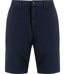 ps paul smith casual chino shorts - blue