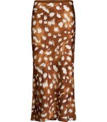 w. bias skirt knälång kjol brun svea