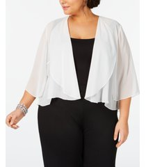 alex evenings plus size chiffon bolero jacket