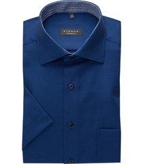 eterna shirt korte mouw comfort fit donkerblauw
