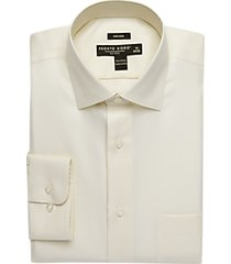 pronto uomo big and tall ecru queens oxford classic fit dress shirt