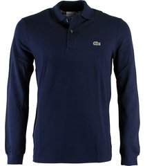 lacoste polo regular fit donkerblauw l1312/166