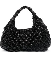 valentino garavani diamond quilt tote bag - black