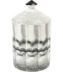 fornasetti vela aromatizada 'mille bocche' com suporte - preto