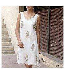 embellished dress, 'golden panorama' (india)