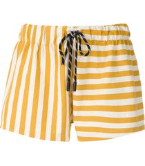 osklen summer stripe shorts - yellow