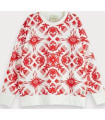 scotch & soda tropical print sweatshirt