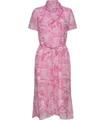 galia p jurk knielengte roze tiger of sweden