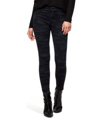 sanctuary social standard skinny ankle printed jeans