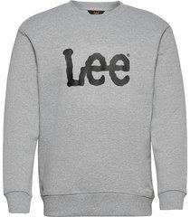 basic crew logo sws sweat-shirt tröja grå lee jeans