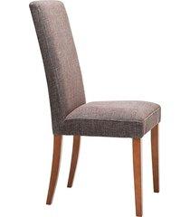 krzesło tapicerowane rhytm brązowe