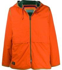 element by nigel cabourn blanket alder fleece coat - orange