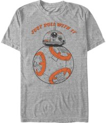 star wars men's bb-8 just roll with it short sleeve t-shirt