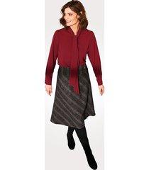 kjol relaxed by toni grå::bordeaux