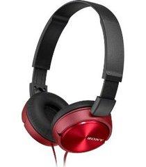 audifonos diadema sony mdr-zx310 plegables -rojo