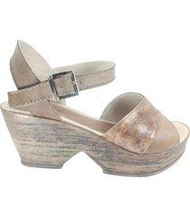 sandalia marrón  mdl calzados  rose