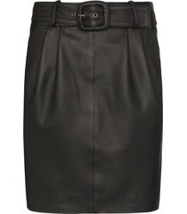 remain belted pencil mini skirt - black