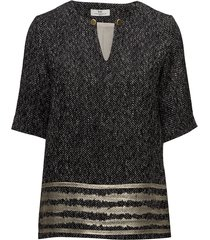 day taaza blouses short-sleeved zwart day birger et mikkelsen