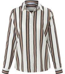 blouse met lange mouwen van peter hahn beige