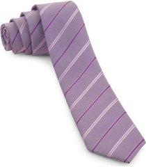 gravata slim lilás com listras spot