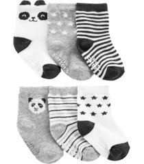carter's baby boy or girl 6-pack panda booties