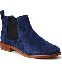 taylor shine shoes boots ankle boots ankle boots flat heel blå clarks