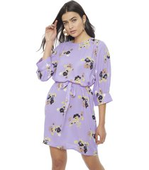 vestido vero moda kaya lila - calce holgado