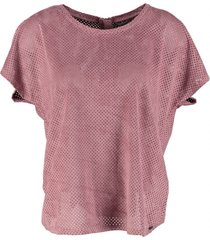garcia suèdelook shirt soft rose