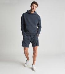 reiss alexander - oversized garment dye hoodie in airforce blue, mens, size xxl