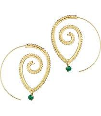orecchini a forma di goccia d'argento a forma di spirale esagerata con cerchio grande cerchio orecchini oro per lei