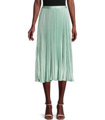 bcbgeneration women's pleated a-line skirt - harbor - size l