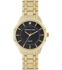 geoffrey beene black dial genuine diamond dial slim bracelet watch