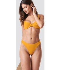 na-kd swimwear high cut bikini panty - yellow
