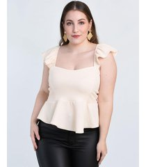 top natural circe peplum