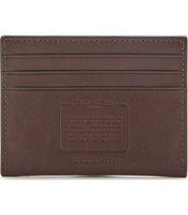 coach men's flat sport calf card case - mahagony