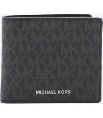 michael michael kors leather wallet with all-over logo print