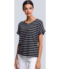 shirt alba moda zwart::offwhite